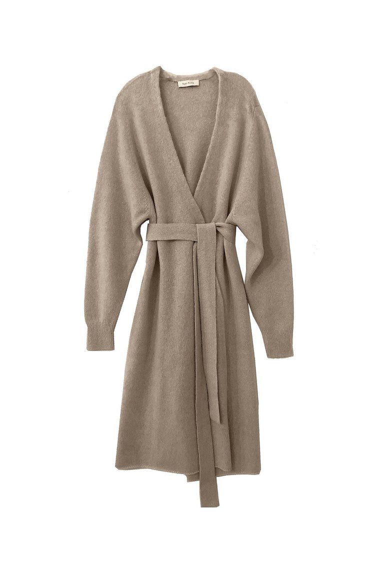 Our signature luxury wrap knit robe