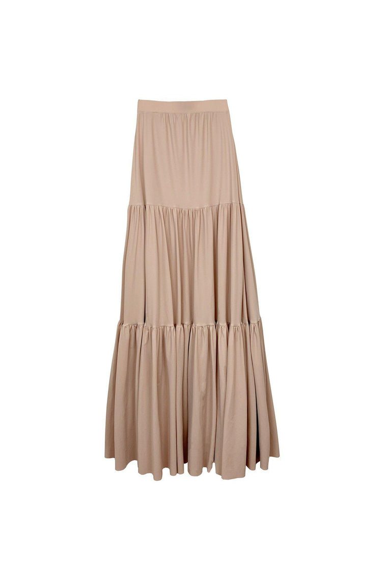Prairie stretch ruffle skirt