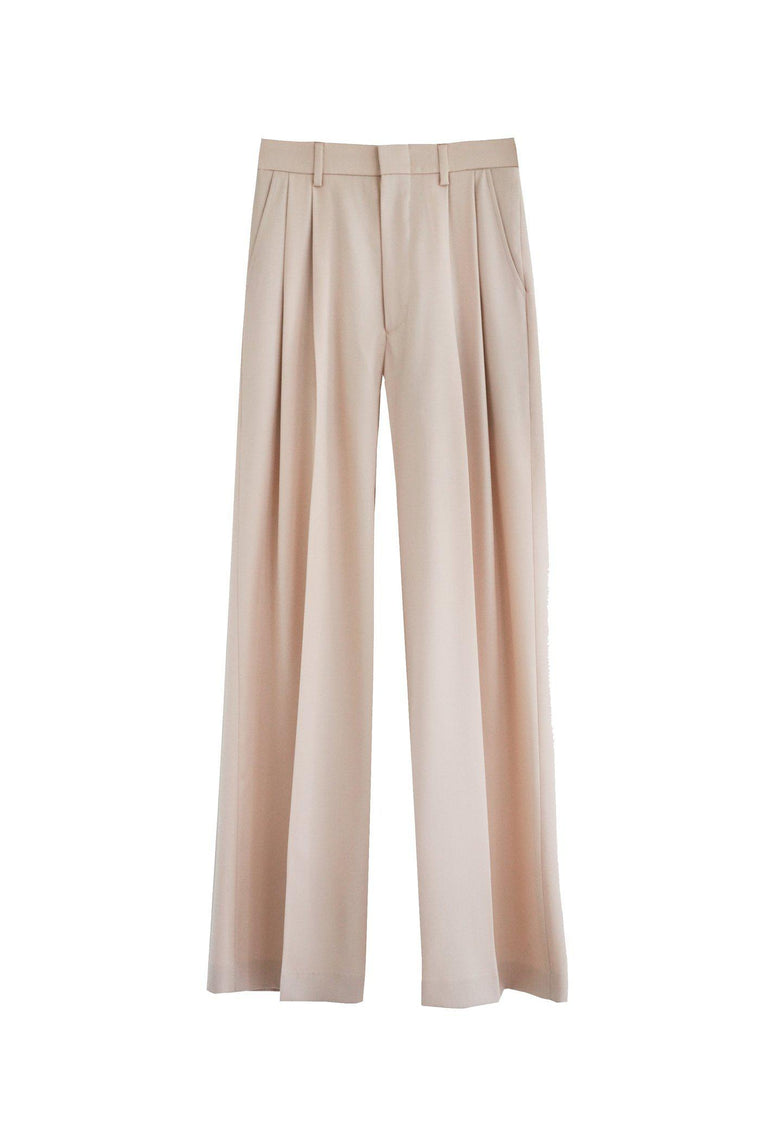Wide leg high waisted trouser
