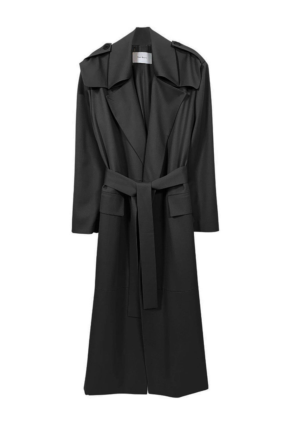 RYAN ROCHE Wool gabardine trench coat