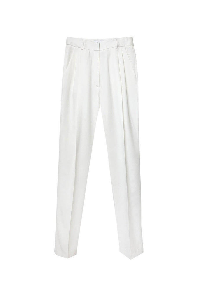 RYAN ROCHE Wool gabardine trouser with front pleats