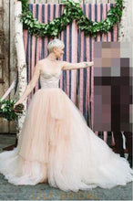 Gorgeous Tulle Sweetheart Illusion Cathedral Train Wedding Dress