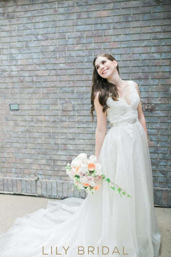 Ivory Chapel Bodice Tulle Wedding Gown