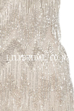 Luxury Beading Sequin Cocktail Dress Sexy Sheer Neck Short Sleeves Short Bodycon Party Dress