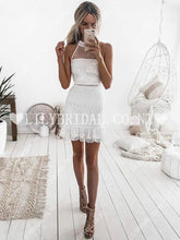 Charming Lace Illusion Jewel Neck Sleeveless Zipper-Up Short Bodycon Cocktail Dress