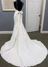 Sexy Spaghetti Straps Sleeveless Backless Long Solid Stretch Mermaid Wedding Gown