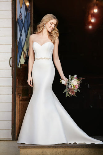 Vintage Beading Sweetheart Sleeveless Long Mermaid Bridal Wedding Dress