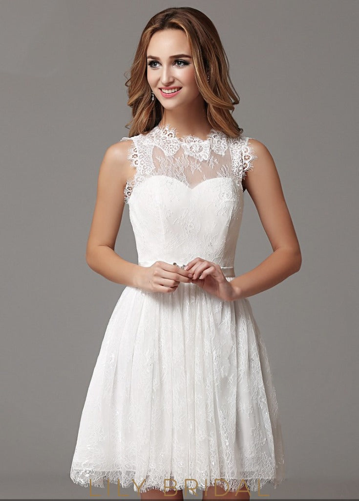 A-line Sweetheart Sleeveless Prom Dress with Beaded Belt
