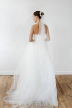 A-line Lace Strapless Wedding Dress with Sweetheart Neckline