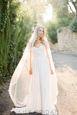 a line long wedding dress