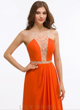 A-Line Sleeveless Square Floor-Length Prom Dress