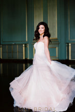 A-line Strapless Sweetheart Tulle Flounced Wedding Dress