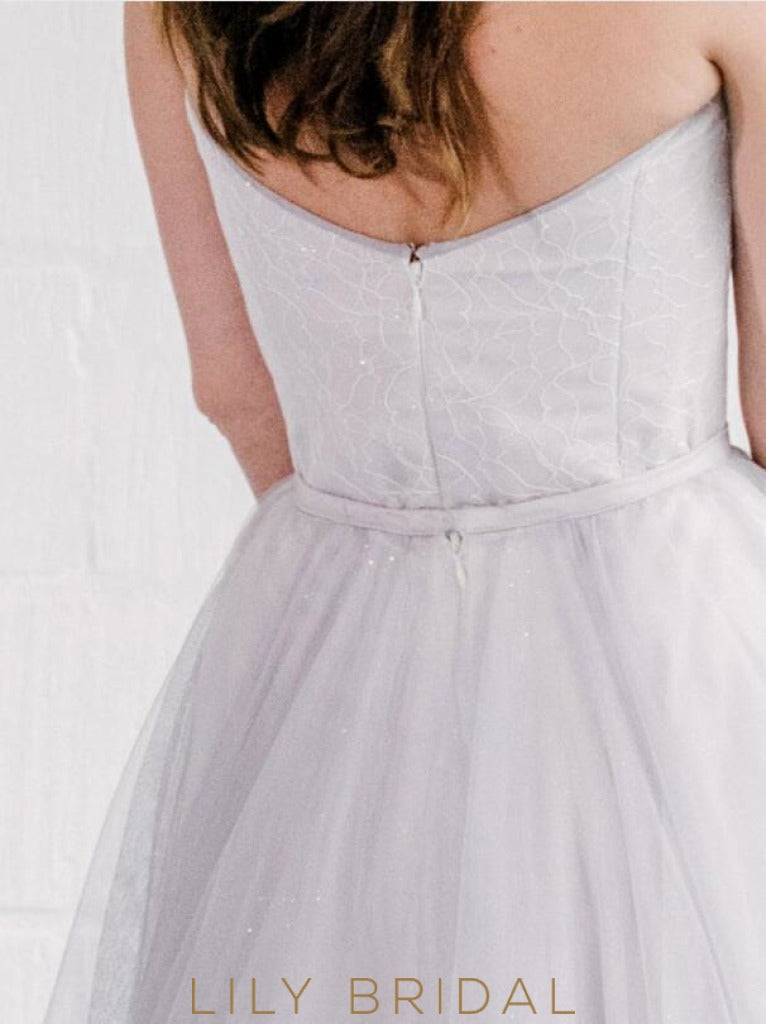 Tulle A-Line Wedding Dress with Strapless Sweetheart