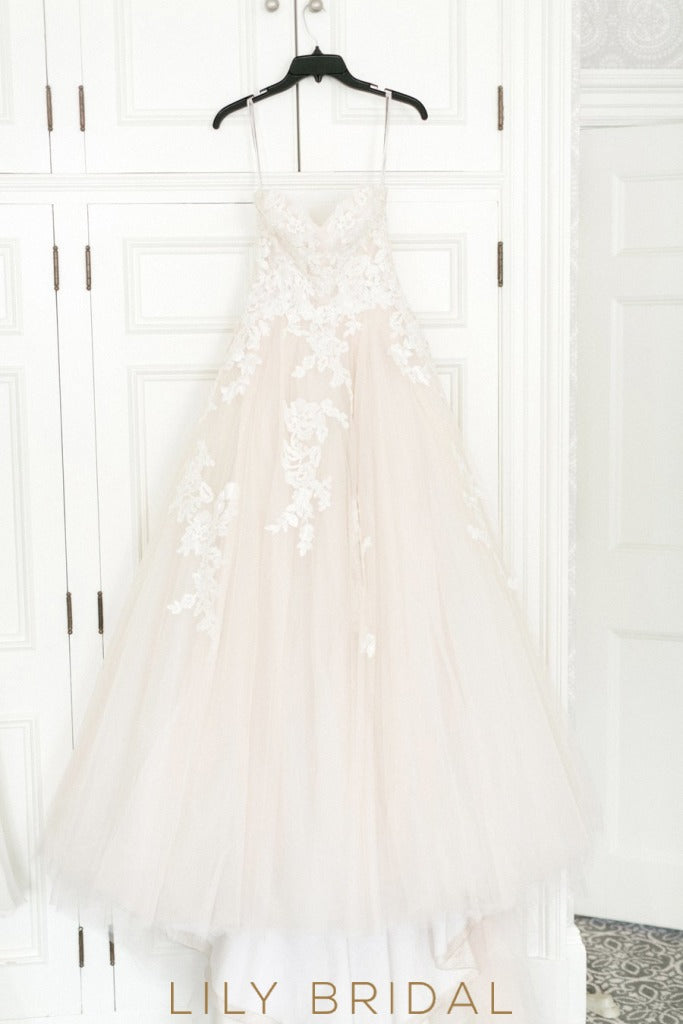 airy tulle wedding skirt gown