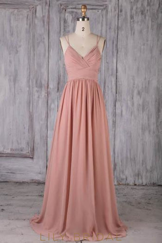 Applique Sequin Illusion Spaghetti Straps Sleeveless Backless Long Ruched Sheath Bridesmaid Dress