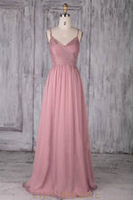 Applique Spaghetti Straps Sleeveless Zipper-Up Long Ruched Sheath Bridesmaid Dress