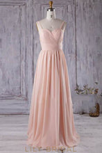 Backless Strap Sweetheart Ruched Chiffon Bridesmaid Dress With Sash