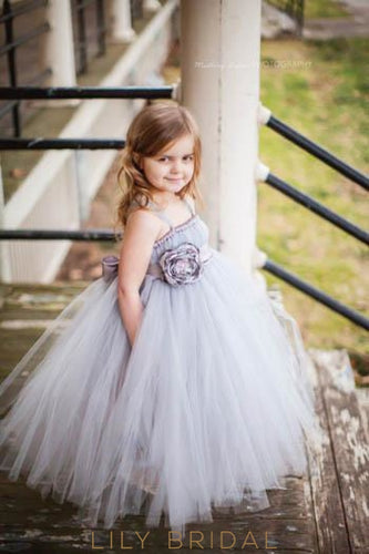 Ball Gown Strap Floor-Length Tulle Flower Girl Dress With Belt