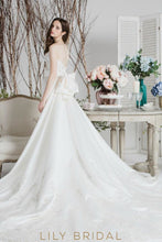 Startling Ivory Satin Wedding Dress With Bow Long Train Dresses
