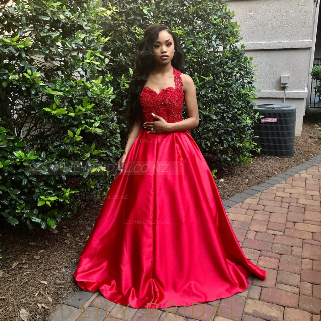 Elegant Beading Off Shoulder Long Solid Taffeta Red Prom Dress with Sweep Train