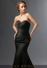 Black Sweetheart Strapless Mermaid Mother of the Bride Dresses