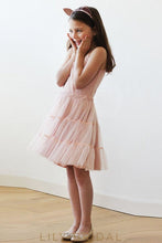 Spaghetti Strap A-Line Knee-Length Tulle Flower Girl Dress