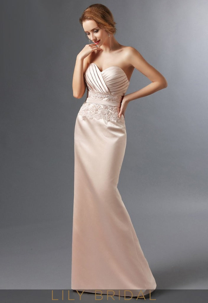 Satin Sweetheart Lace Beaded Mermaid Mother of the Bride Dresses