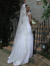 silk effect weeding veil