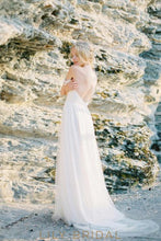 Chiffon A-line Sweetheart Off-the-shoulder Court Train Wedding Dress