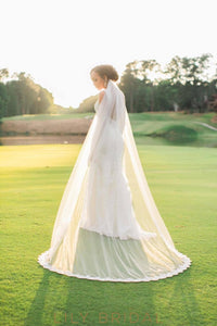 chapel length weeding veil