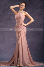 crystal-beaded-neckline-split-chiffon-evening-dress-with-ruched-bodice