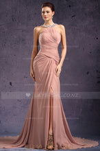 split-long-chiffon-evening-dress-with-ruched-bodice