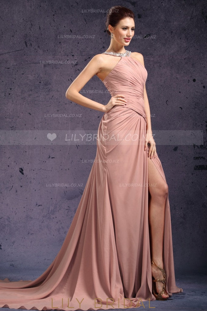 crystal-beaded-neckline-split-long-chiffon-evening-dress-with-ruched-bodice-1