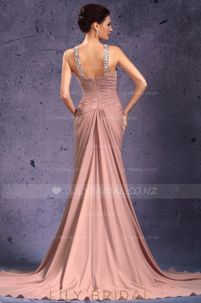 crystal-beaded-necklinelong-chiffon-evening-dress-with-ruched-bodice