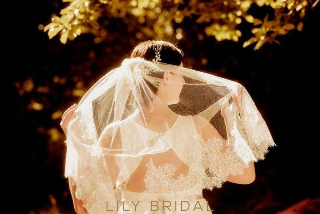 elbow length weeding veil