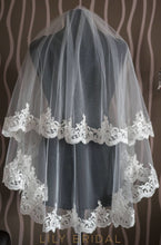 lace edge weeding veil