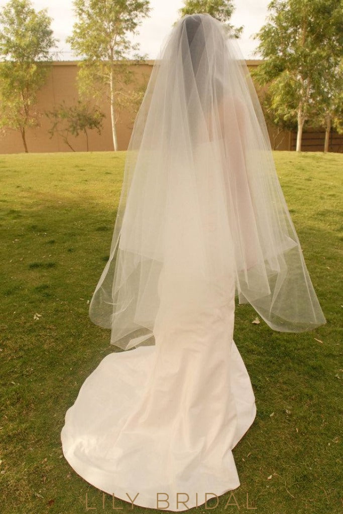 weeding Veil in Silk Effect Tulle