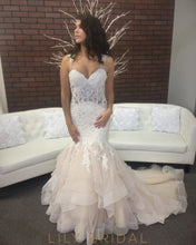 Organza Lace Sweetheart Dropped Waist Asymmetrical Wedding Dress