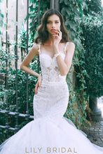 Dropped Waist Cathedral Train Wedding Dress Sweetheart Neckline