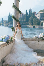 Dropped Waist with Cathedral Train Wedding Dress Sweetheart Neckline