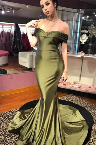 Elegant Off Shoulder Short Sleeves Long Solid Ruched Stretch Mermaid Evening Dress