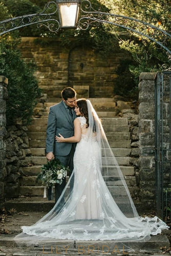 Elegant One Layer Chapel-Length Tulle Wedding Veil