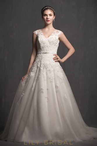 elegant-v-neck-cap-sleeves-appliques-lace-wedding-dress-with-illusion-back