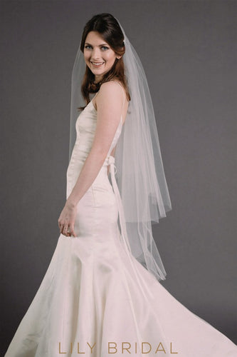 sheer tulle weeding veil
