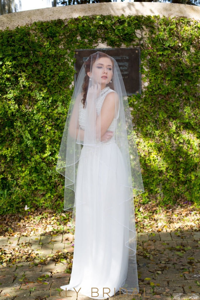 floor length weeding veil