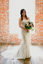 Mermaid Watteau Train Wedding Dress Silhouette