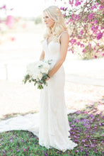 Fit and Flare Chapel Train Wedding Dress