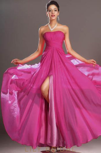 fuchsia-strapless-split-a-line-floor-length-chiffon-formal-evening-dress-with-ruched-bodice