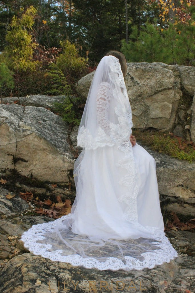 two tier chapel veil