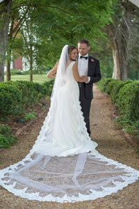eyelash edge weeding veil